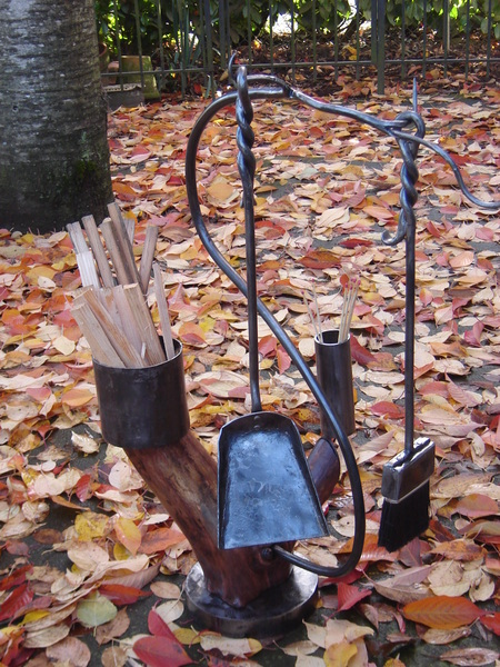 Fireplace Tool Set with Branch Stand