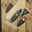 Leather sheaths are a great way to keep snips and pruners ready at hand as well as protected in storage.
